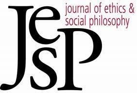 DISCUSSION NOTE BY JONATHAN WAY JOURNAL OF ETHICS & SOCIAL PHILOSOPHY