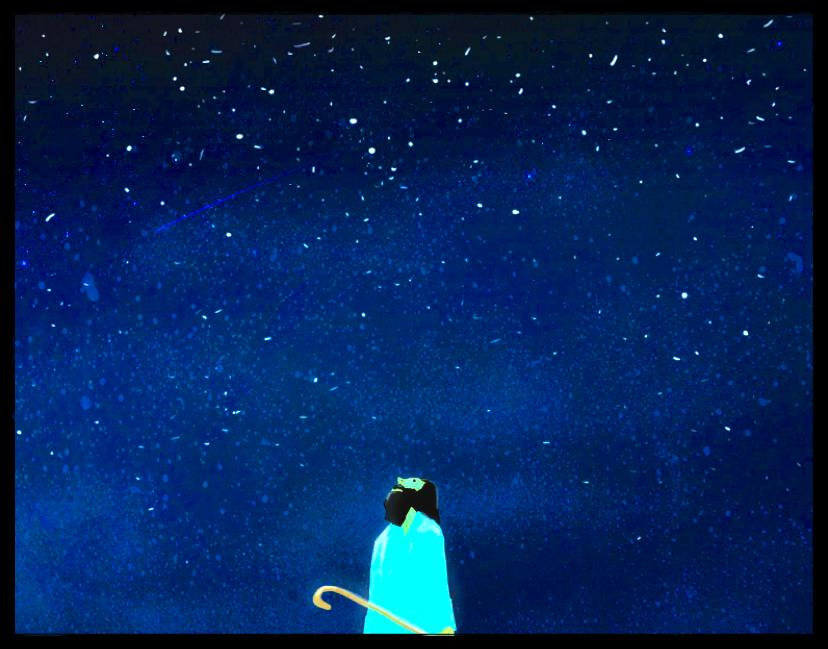 And He took him outside and said, Now look toward the heavens, and count the stars, if