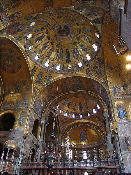 St. Mark s Basilica in Venice, Italy 1084-1117 C.E. claims to be the site of burial for St.