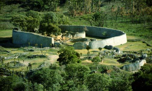 Most of the gold was mined inland and farther south, such as from the city Great Zimbabwe.