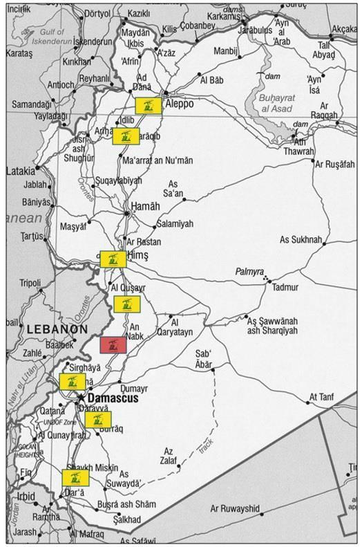 21 Figure VIII.44: Hezbollah s Uncertain Syria Deployment in 2014 Note: Area marked in red depicts current focus of kinetic operations in the Al-Qalamoun region.