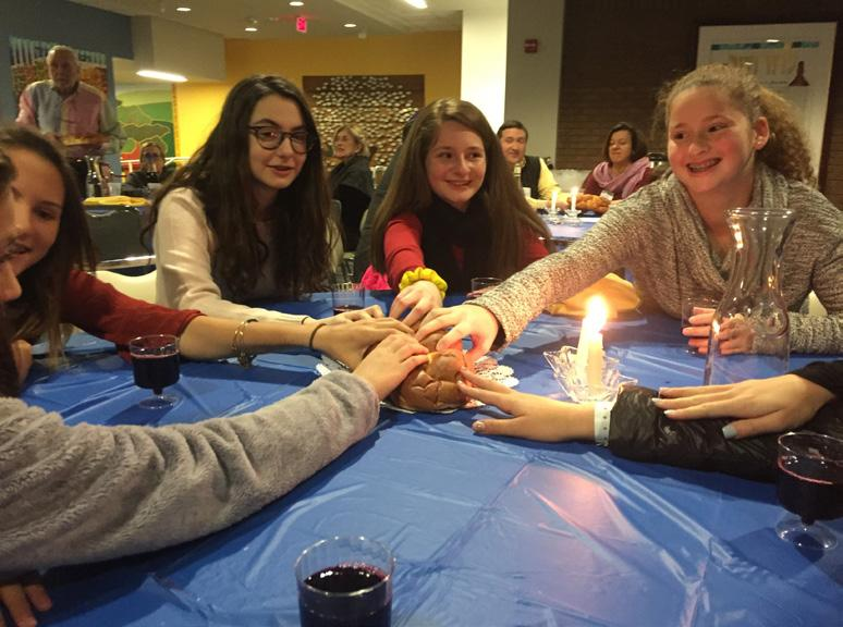 hands on social action work. Gesher Program: Grade 8- NEW New this year, our 8th grade students will gather six times on Wednesday evening throughout the year for a Dinner Club with Rabbi Brad.