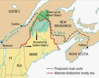 Maine Boundary Settlement, 1842 Directions: Read Understanding Manifest