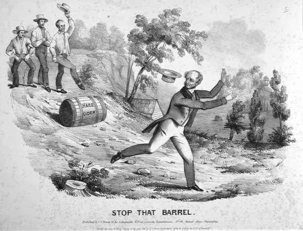 "Stop That Barrel William Henry Harrison Campaign Song Tip and Ty (Words and Music by ""A member of the Fifth Ward Club, published 1840) What has caus'd this great com-mo-tion, mo-tion, mot-ion our"