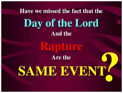 "begins to address when this will happen - and it is blatantly obvious that what he has been talking about, HE calls ""the day of the Lord."