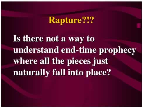"""YES!"" But, to understand the rapture and the issues surrounding the"