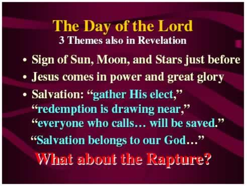 So, we see that the themes surrounding the Day of the Lord are throughout the Bible, but what does this have to do with the