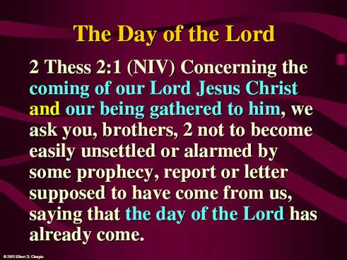 """ Now what is the event at the coming of the Lord Jesus AND our being gathered to Him?"