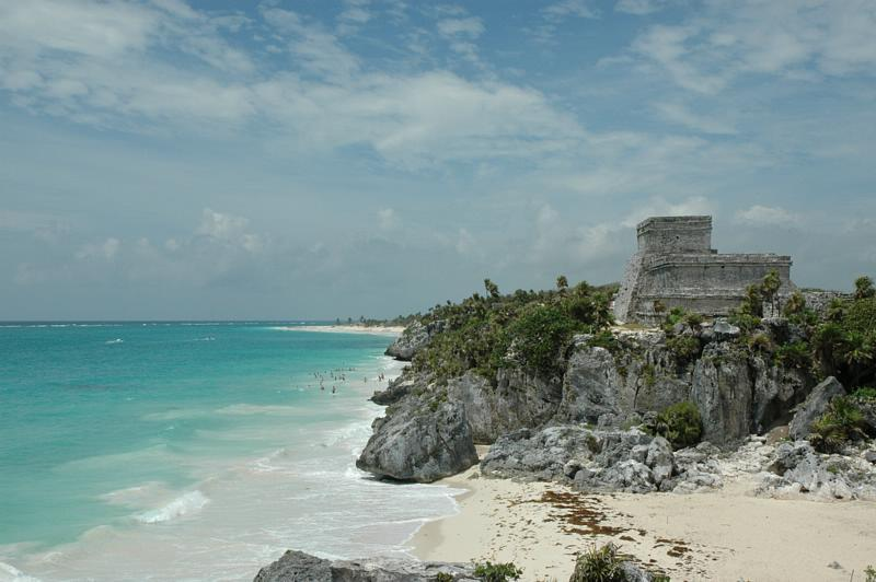EL CASTILLO AT TULUM, ON THE CARRIBEAN COAST, QUINTANA ROO, MEXICO The TULUM Stargate OPENING THE GIFTS OF HEART SENTIENCE - RECEIVING LOVE FROM HEART TO HEART COMMUNION AND SOUL MERGENCE WITH YOUR