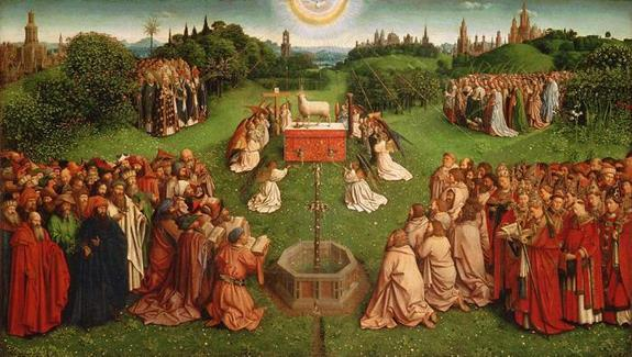 Heavenly Liturgy There is another reality happening in Heaven to which the liturgy of the Church is united: Jesus standing before the Father in Heaven offers himself eternally.