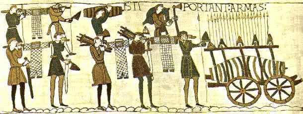 SOURCE A: William s preparations for the invasion as recorded in the Bayeux Tapestry, made in France in 1077 under the order of Bishop Odo, William s half-brother who was at the Battle of Hastings.