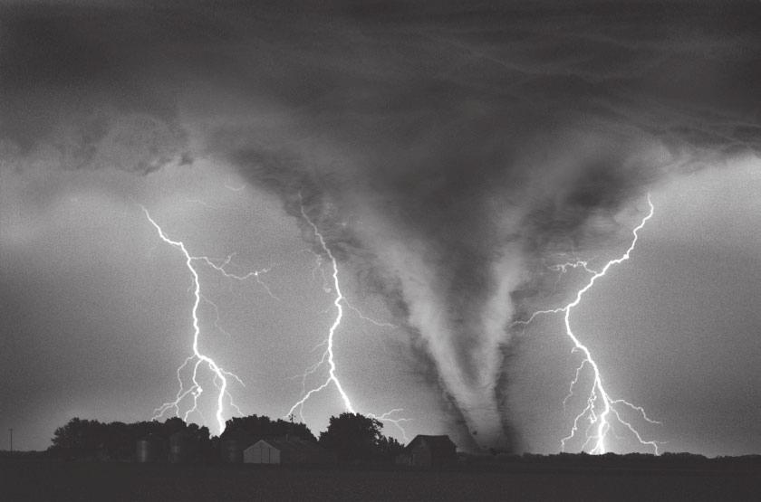 4 Question 3 The Problems of Evil and Suffering Look at the photograph below, which shows a tornado about to destroy people s homes.