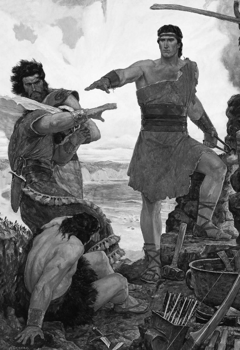 Arnold Friberg, Nephi Rebuking His Rebellious Brothers, 1951 Intellectual Reserve, Inc.
