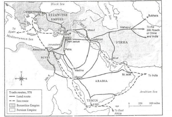 Unit VI: Byzantine Empire (SOL 8) Your Name: Date: DBQ 4: Spread of Islam Big Idea According to the holy texts of the Muslims, in 610 CE a local merchant named Mohammad retreated to a cave outside