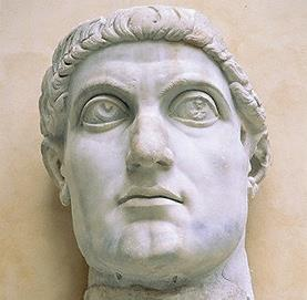 Emperor Constantine 312 AD- Constantine, a military commander, gained control of the Western Roman