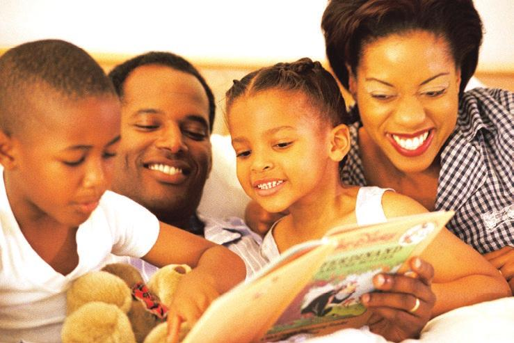 April 2, 2017 Jesus Loves Families Mark 10:13-16 Here is a family. This family is having fun reading a book. Jesus loves families! Jesus loves me (based on 1 John 3:16). Pat the Bible as you say the.