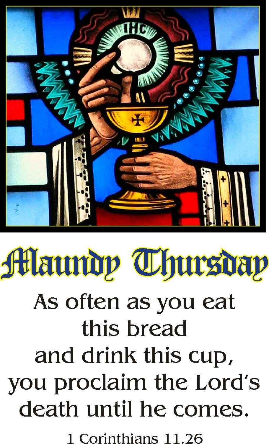 April 2 nd Maundy Thursday Liturgy of the Last Supper with Footwashing and Stripping of the Altar