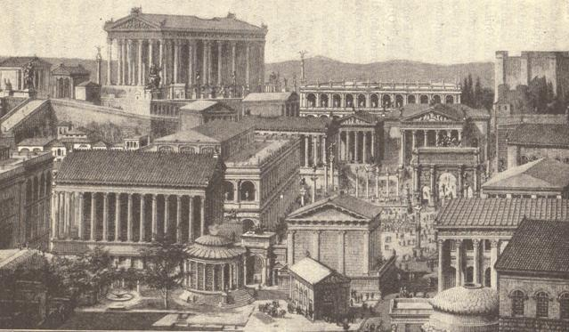 The Roman Forum and its surroundings.