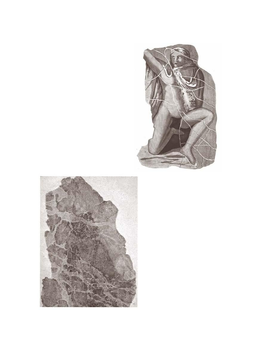 Fig. 44 Nizy-le-Comte, temple, kneeling figure (from Blanchet 1913, pl. II). Fig.