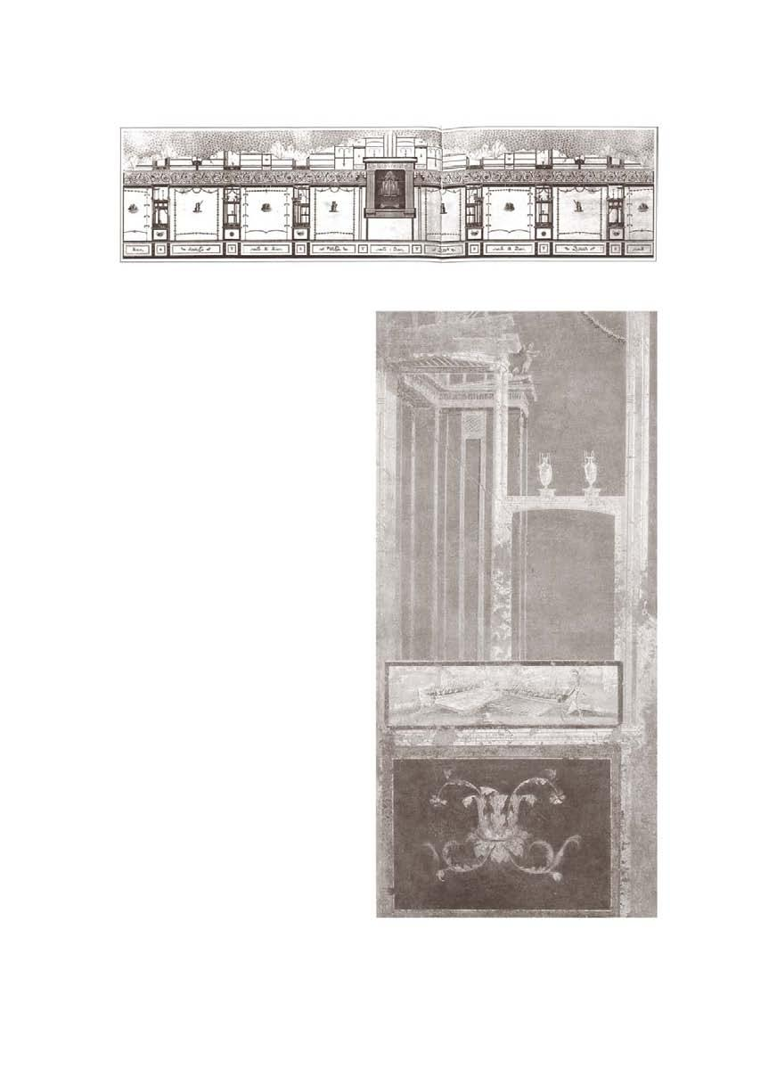 Fig. 78 Pompeii, Temple of Isis, decoration of the portico, after AD 62 (from Alla ricerca 1992, 31). Fig.