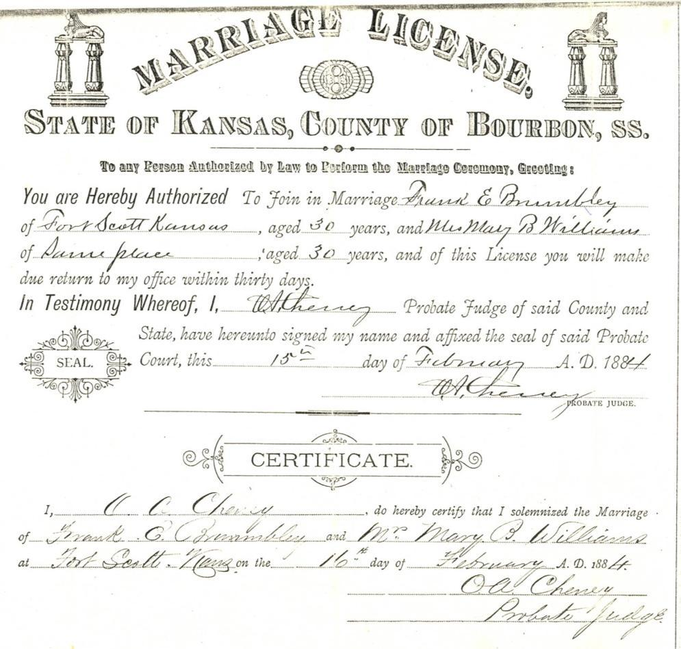 An american family two pioneer families the williams and littles death certificate george kristyandbryce Choice Image