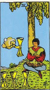 TAURUS Four of Cups Opportunities are on the horizon, but you may be feeling stagnant, flat, or emotionally withdrawn just now.