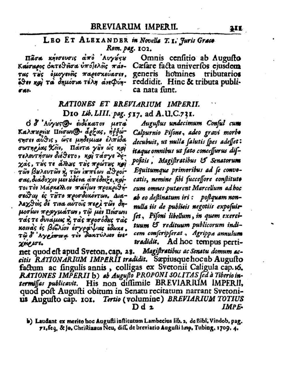 BREVIARIJM IMPERII. in; y, LED ET ALaxANDnR in Navilia 2:1.,7uri:Grm4 Rem. p45. 102. trime minimum; 4 73 1078,51!