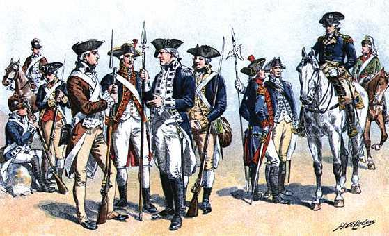 Document 4: French And American soldiers during the American Revolution. France sent an estimated 12,000 soldiers and 32,000 sailors to the American war effort.