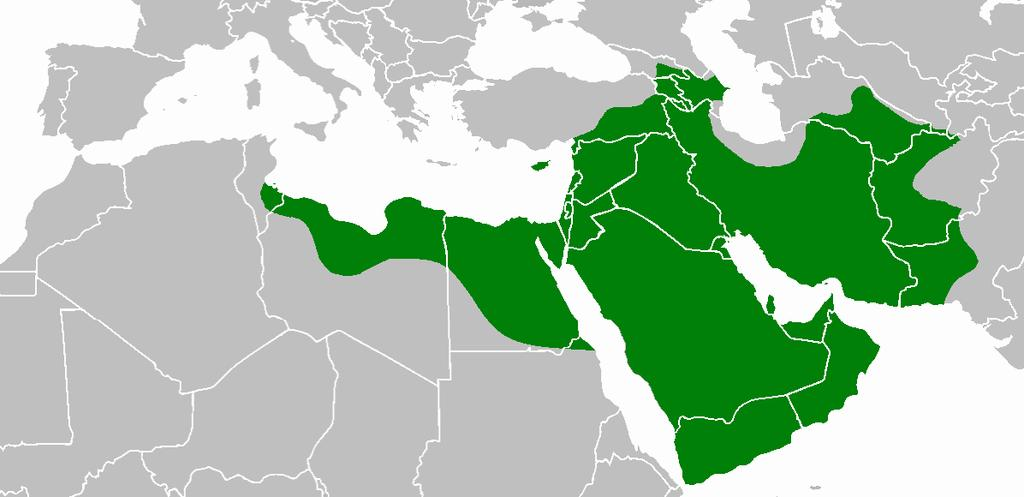 Extent of Islam under the Rashidun Caliphs (632-661) the