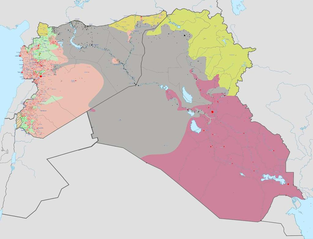 As of 20 October 2014 Controlled by the ISIL Controlled by other Syrian rebels Controlled by