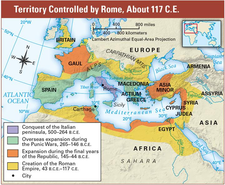 At its largest, Rome was a mighty empire that ruled over the entire Mediterranean, large parts of the Middle East, and most of Europe. But Rome s final expansion brought new problems.