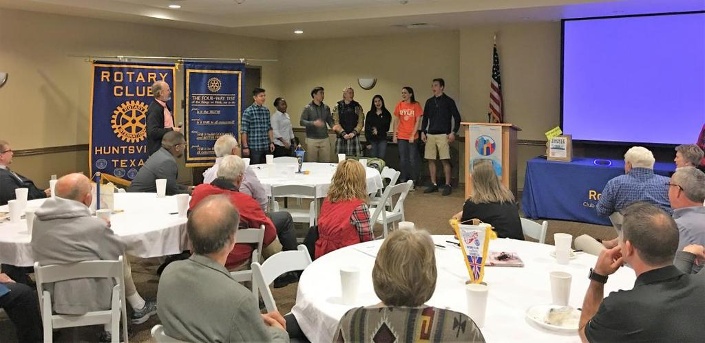 Rotary Club of Huntsville, Texas * Miss the Meeting, Miss the Fun!