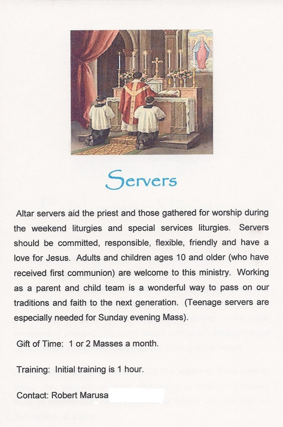 Holy Spirit Server Procedures January