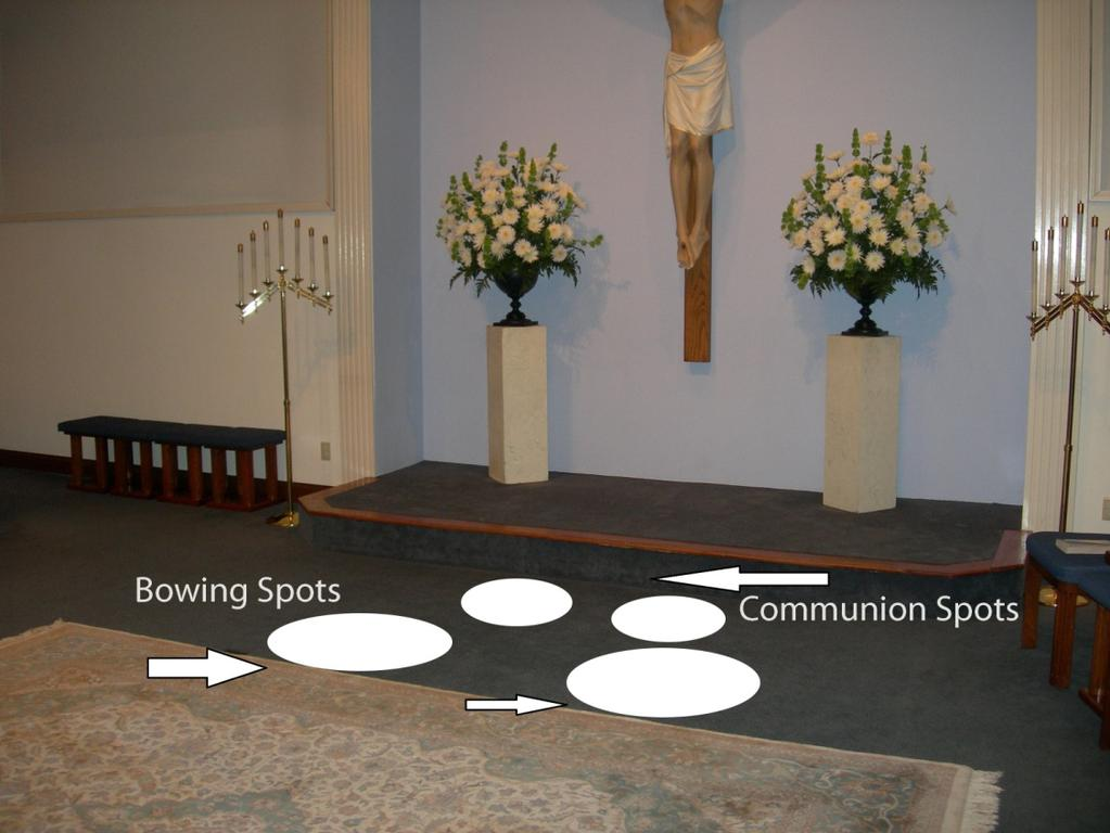 Server Bowing Spots and Communion Spots: Appendix 1 Server Training Process First step: in training is to familiarize yourself with the actions of the Servers during the Mass.
