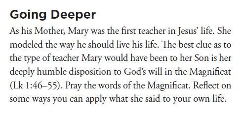 Modeling Mary, the First Disciple-Teacher Follow the directions in the two