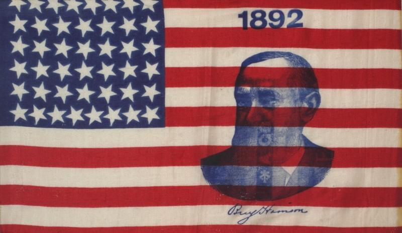 Origins Note: In 1892 when the pledge was penned, the flag had 48 stars and the president of the United States was Benjamin Harrison. 2010-2014 Julien's Auctions. All Rights Reserved.
