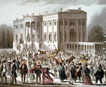 3. The Inauguration of Andrew Jackson Click to read caption On March 4, 1829, more than 10,000 people, who came from every state, crowded into Washington, D.C., to witness Andrew Jackson s inauguration.