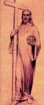 winning architect and engineer, ater submitting a design of Christ with a large cross in his left arm and holding a globe in his right hand.