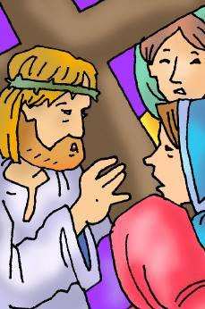 The Eighth Station Jesus Meets the Women of Jerusalem Jesus made many friends. He stayed at peoples homes. He taught many people. He healed those who were sick. Even now Jesus did not walk alone.