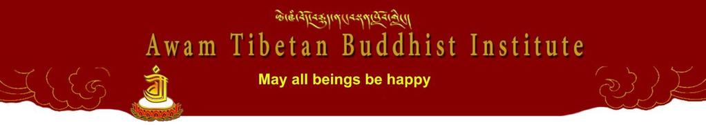 Awam Tibetan Buddhist Institute Courses