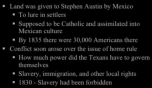 Slavery, immigration, and other local rights!