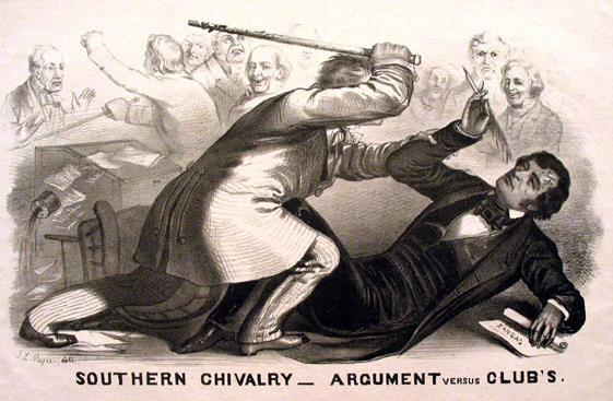 Senator Charles Sumner of Massachusetts was critical of the situation, and also criticized another senator from South Carolina named Andrew Butler.