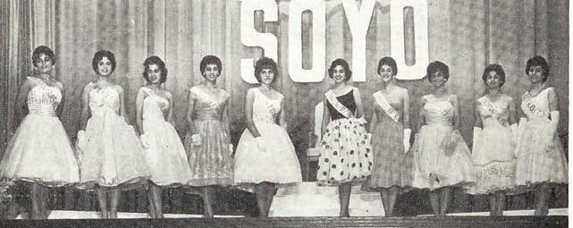 WHILE FIRST PRESENTED AS A WAY TO SUPPORT CHOIRS AND CHURCH- SCHOOL PROGRAMS, SOYO HELD REGIONAL CONFERENCES WHERE YOUNG PEOPLE HAD BEAUTY CONTESTS, CHOIR AND BASKETBALL COMPETITIONS, TEACHER
