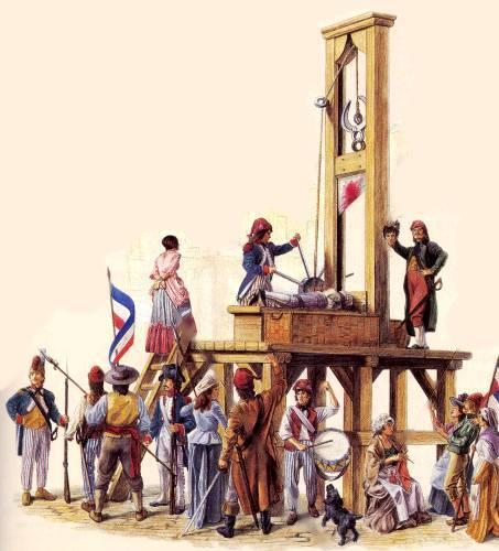 The Guillotine When executioner cranked the blade to the top, a mechanism released the blade and severed the victims head from the body Doctors believed that a victim s head