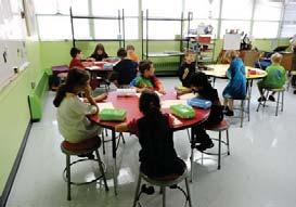 The the open concept and improved lighting, and says that the new space enhances color accuracy when students paint, color and draw.