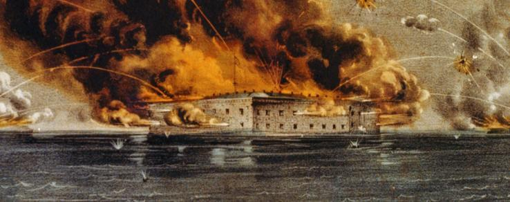 FORT SUMTER- OUTCOME Charleston Harbor, South Carolina (April 1861)