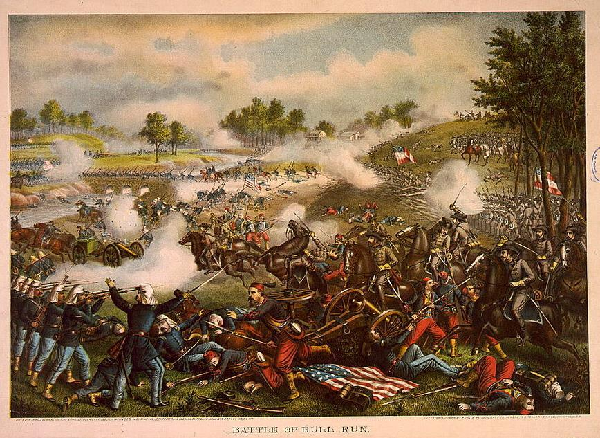 BATTLE OF BULL RUN - OUTCOME Manassas Creek, Virginia July 1861