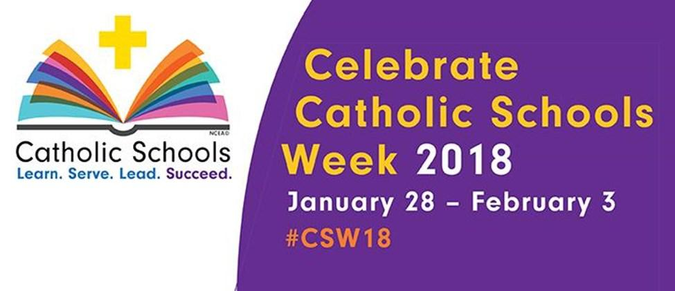Throughout the remainder of the week, specific themes highlighting the important aspects of catholic education are shared. The week begins with Celebrate Your Parish on Sunday.