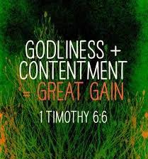 The Apostle Paul wrote to the young pastor Timothy Now godliness with contentment is great gain.