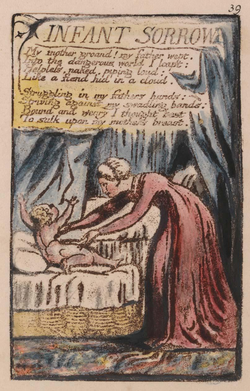 Songs of Innocence and of Experience, Plate 39, Infant Sorrow (Bentley 48), 1789 to 1794